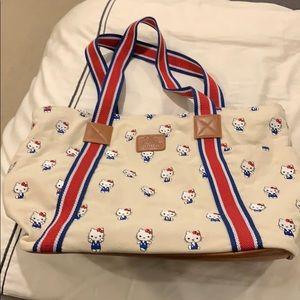 Hello Kitty canvas shoulder bag